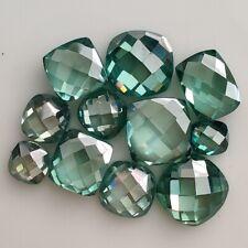 Fancy Rose Cut Moissanite Diamond 4 Ring Loose 2.17 Ct 8.65mm Vvs1 Green Cushion