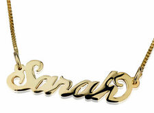 Personalized Name Necklace 18k Gold Plated Name plate Custom Pendant & Chain A