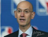 ADAM SILVER SIGNED AUTOGRAPH BASKETBALL NBA COMMISSIONER 8X10 PHOTO #2