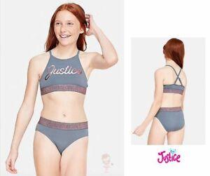 New with tags Justice Girls Swimwear Bikini Set