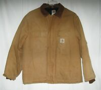 vintage CARHARTT Insulated Work Canvas Jacket Mens Size 46 Regular