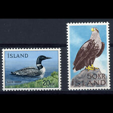 Islandia 1966 Sea Eagle & Great Northern Diver Ave. SG 430-431. estampillada sin montar o nunca montada. (AY312)