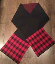 RED GREY CHECK SCARF ONE SIZE TOWIE WINTER SPORT GYM FOOTBALL CYCLE GOLF RUN