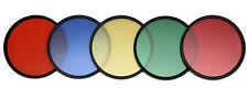 Farbfilter Set Filterset --Tabak-Grün-Gelb-Rot-Blau + Filtertasche ----52mm