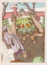 Publicité ancienne humour 1974 frayeur issue de magazine