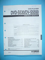 Service Manual für Yamaha DVD-S530/DV-S5550  ,ORIGINAL