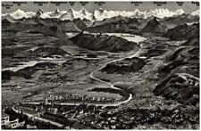 Bern Schweiz Berge Reliefkarte ~1950/60 Gesamtansicht mit Thuner See Alpen u.a.