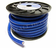 50 FT - PREMIUM 0 GAUGE BLUE POWER WIRE GROUND CABLE 1/0 AWG CAR AUDIO WIRING