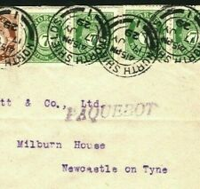 NORWAY Cover Franking PAQUEBOT GB Northumberland *North Shields* 1929 Q59a