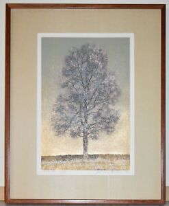 Listed Japanese Artist JOICHI HOSHI, Signed & Numbered Original  Color Woodcut