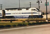 METROLINK Train FOUND PHOTO Color FREE SHIPPING Snapshot LOS ANGELES 811 1 R