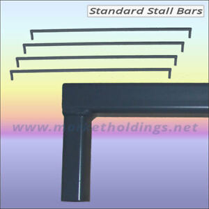 4 Foot Market Stall Bars - 1.2m Steel Bar For 25mm Table Stands or Display Units