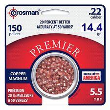 Crosman Copper Mag. Premier Domed Pellet .22 cal, 14.4g (Per 150), CPD22