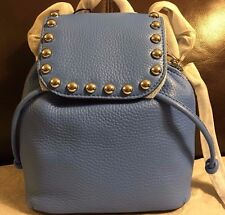 NWT Rebecca Minkoff MICRO UNLINED STUDDED LEATHER BACKPACK IN Denim Blue $245