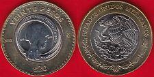"""Mexico 20 pesos 2013 """"Mexican Army"""" BiMetallic UNC"""