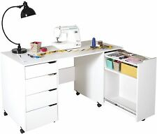 South Shore Crea Rolling Sewing Machine And Craft Table