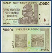 SIMBABWE / ZIMBABWE 500.000 Dollars 2008  UNC P. 76
