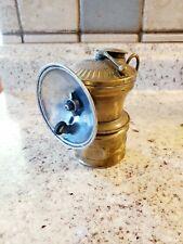 New listing Antique Coal Miners Hat Carbide Lamp Light Auto Lite Universal Lamp Co. Brass