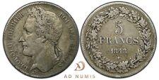 5 francs 1848 Léopold Premier tête laurée Belgique TTB - Argent