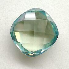 Checkerboard Loose Moissanite 4 Ring 1.40 Ct 7.00x6.37mm/Vvs1 Green Blue Cushion