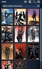 Topps Marvel Collect Black Widow Showcase Full Set (10 Cards + Award) *digital