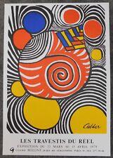10x Litho-Affiche - Calder - Les Travestis du Réel