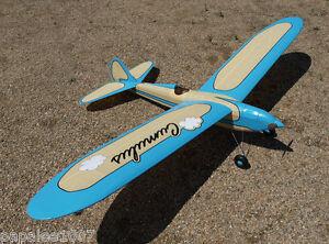 "Model Airplane Plans (FF): Vintage 1937 Cumulus by Ben Shereshaw [50"" VERSION]"