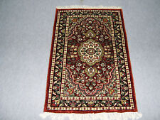 Carpet Floor Cover Rugs 2 x 3 ft Red Color Silk Oriental Carpet Hand Knotted
