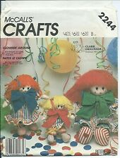 M 2244 sewing pattern Penelope CLOWN DOLL & DRESS BLOOMERS sew sizes S,M,L UNCUT