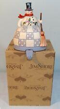 """Jim Shore Snowman Christmas Stocking Holder Hanger Heartwood Creek 6.5"""""""