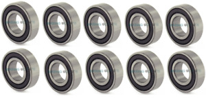 6200 - 6210 (DUNLOP) 2RS Rubber Sealed Ball Bearings Pack of 10 - HIGH QUALITY