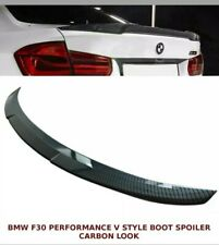 BMW 3 SERIES F30 F80 (M3 M4 V STYLE) BOOT LIP SPOILER CARBON LOOK 100% OEM FIT