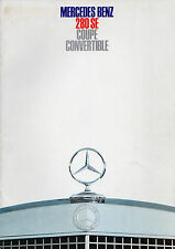 Mercedes-Benz 280 SE Coupe & Convertible 1967-69 UK Market Sales Brochure