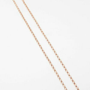 32 Inch Rose Gold Filled Rolo Chain Necklace W/ Spring Clasp