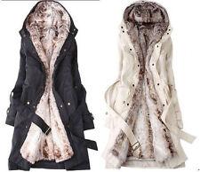 Ladies Fashion Thicken Warm Winter Coat Hood Parka Overcoat Long Jacket Outwear