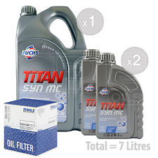 Engine Oil and Filter Service Kit 7 LITRES Fuchs TITAN SYN MC 10w-40 7L