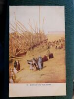 EGYPT BOATS ON THE NILE Wom as n's World VINTAGE POSTCARD PC