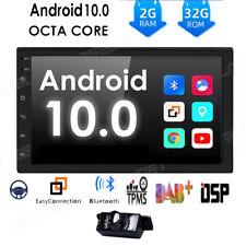 DSP Android 10.0 Double Din Car Stereo Radio GPS Sat Nav DAB+BT OBD WiFi CarPlay