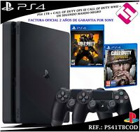 PS4 PLAYSTATION 4 1TB + 2 MANDOS + CALL OF DUTY WWII + CALL OF DUTY BLACK OPS4