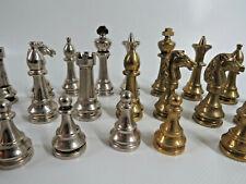 Schachspiel Schachfiguren aus Metall KH 7,5 cm
