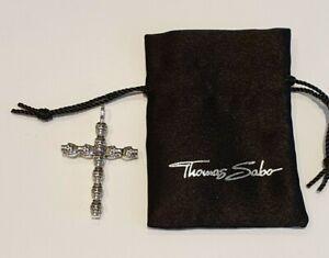 Thomas Sabo Sterling Silver Skull Cross Pendant PE660-001-12