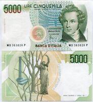 ITALY 5000 5,000 LIRE 1985 P 111 UNC