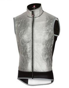 New Castelli Men's Vela Cycling Bike Vest Grey Large Windproof Rain Wind 199$