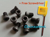 12pcs Insert Torx Screw for Carbide Inserts Lathe Tool & Screwdriver M4.5 to M6