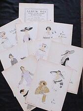 Album des Dames, modes et frivolités Gazette du Bon Ton 1922 8 pl. pochoir