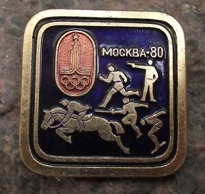 1980 Moscow Russia Summer Olympic Games Modern Pentathlon Event Pin Badge