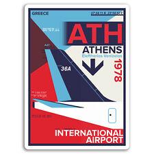 2 x 10cm Athens Airport Vinyl Stickers - Greece Sticker Laptop Luggage #17144