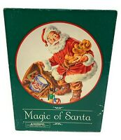 "Vintage Magic of Santa 500 Piece 20"" Round Interlocking Jigsaw Puzzle"