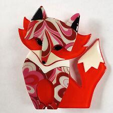 Erstwilder Brooch Fleur The Foxy Flame Fox BNIB
