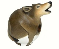 Wolf Bird House - Gord- O Hand Carved & Painted Se3880098